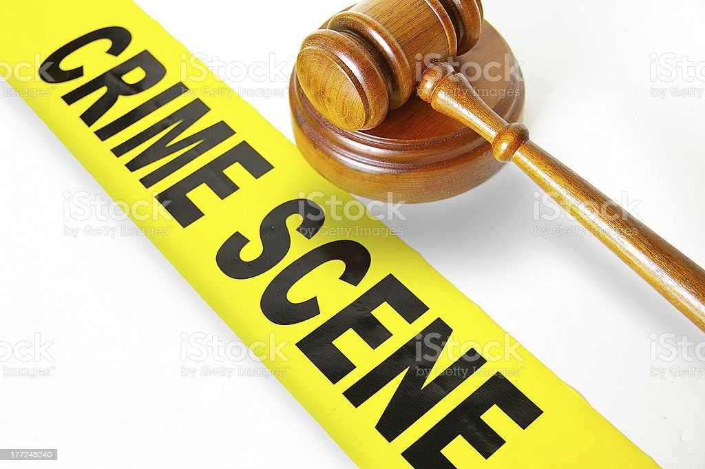 Gavel and tape royalty-free stock photo