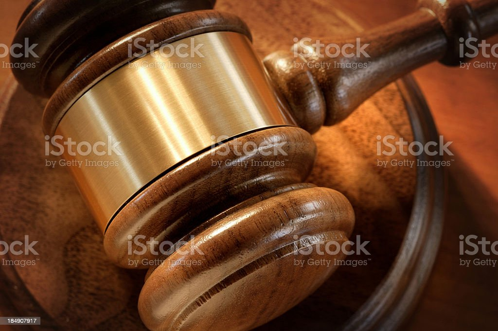 Gavel Close Up royalty-free stock photo