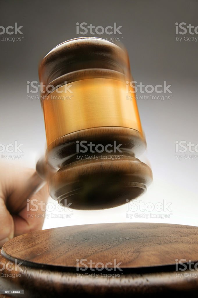 Gavel in Action 2 royalty-free stock photo