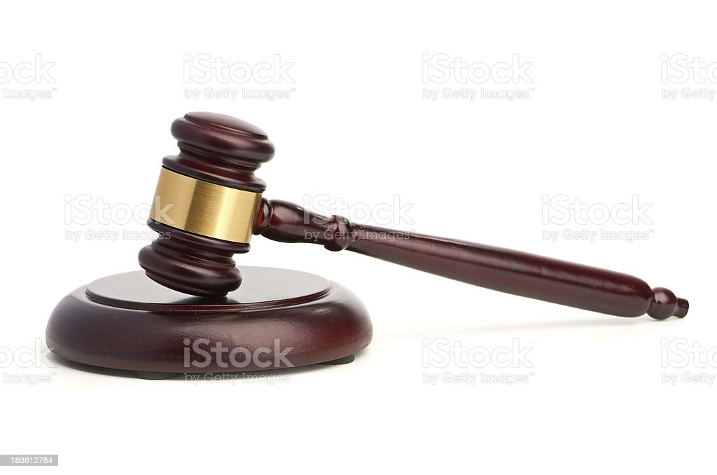 Gavel isolated on white background royalty-free stock photo