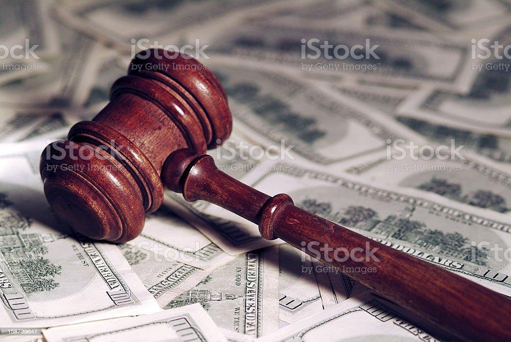 Gavel & Money. stock photo