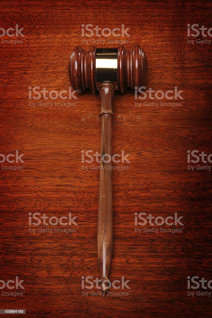 gavel on desk stock photo