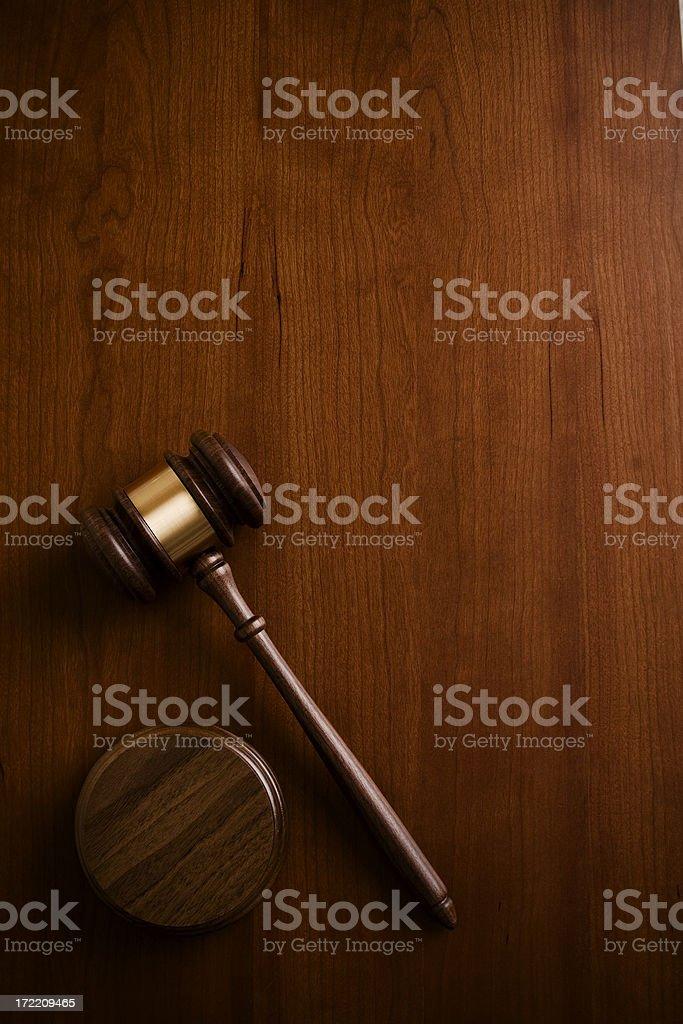 Gavel on Wood royalty-free stock photo