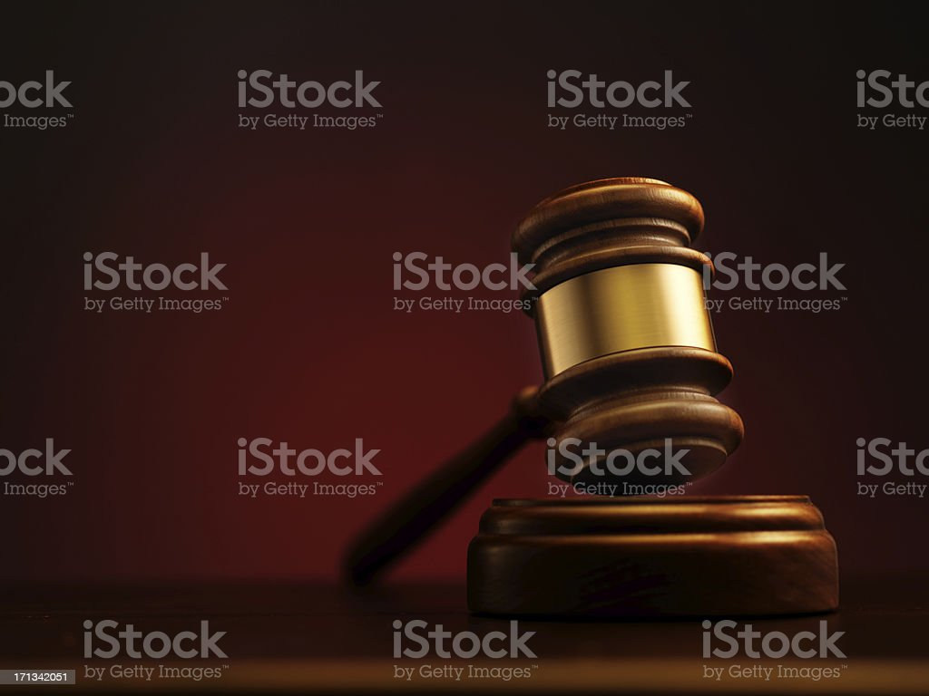 Gavel stock photo