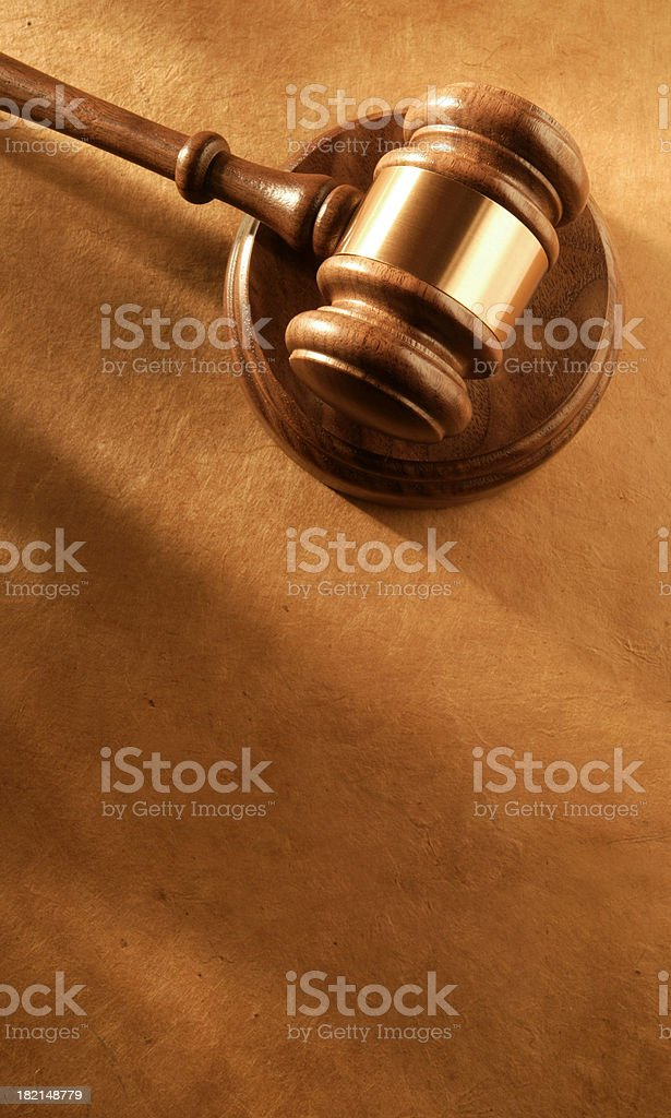Gavel & Soundblock 3 royalty-free stock photo