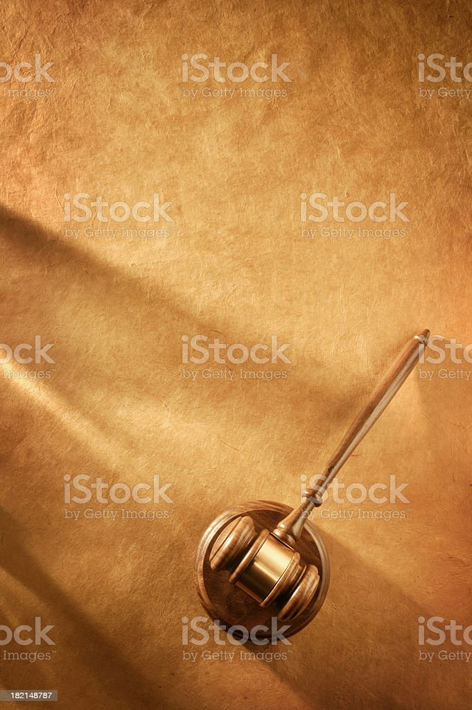 Gavel & Soundblock 4 royalty-free stock photo