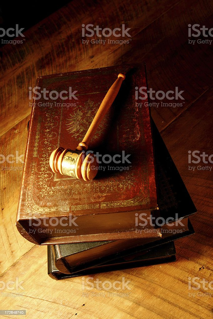 Gavel with Books royalty-free stock photo