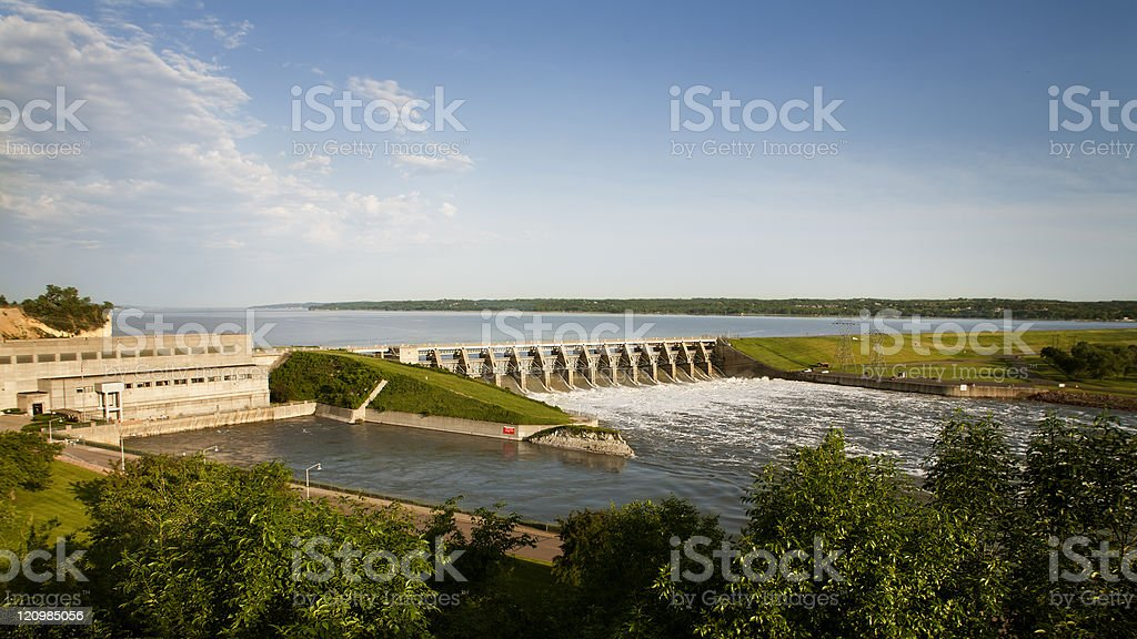 Gavins Point Dam, South Dakota Nebraska. Corps of Engineers. stock photo
