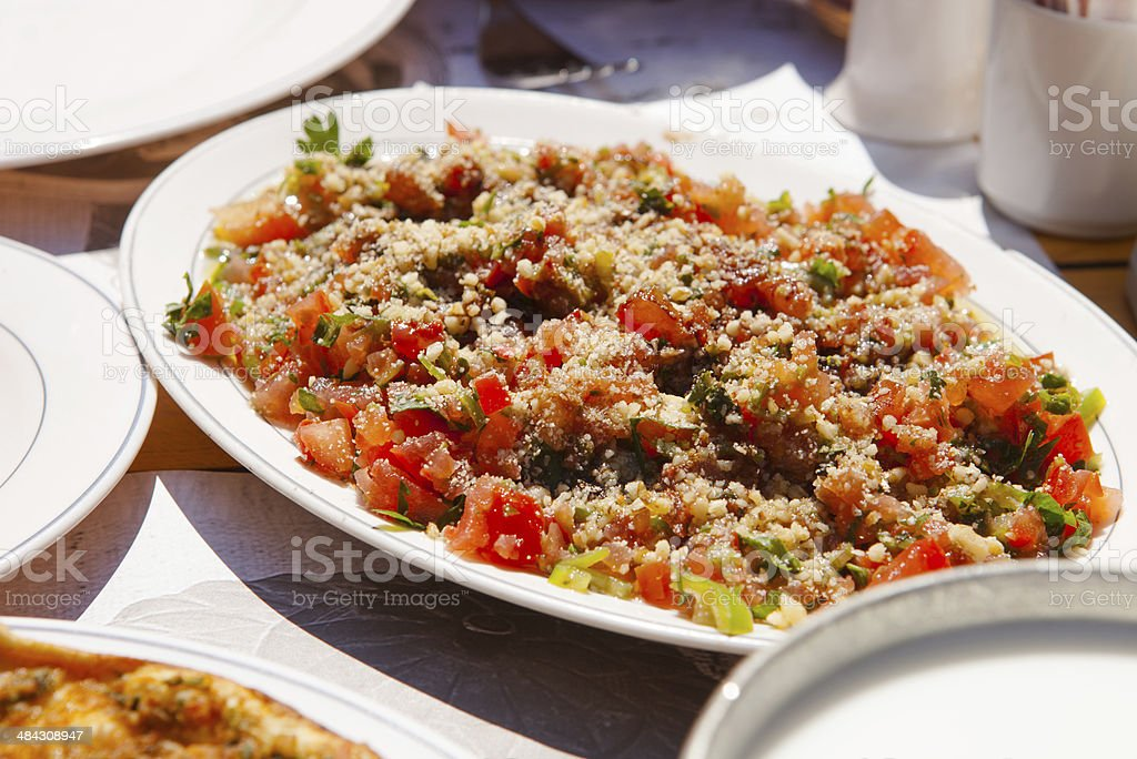 gavurdagi salad,traditional turkish food stock photo