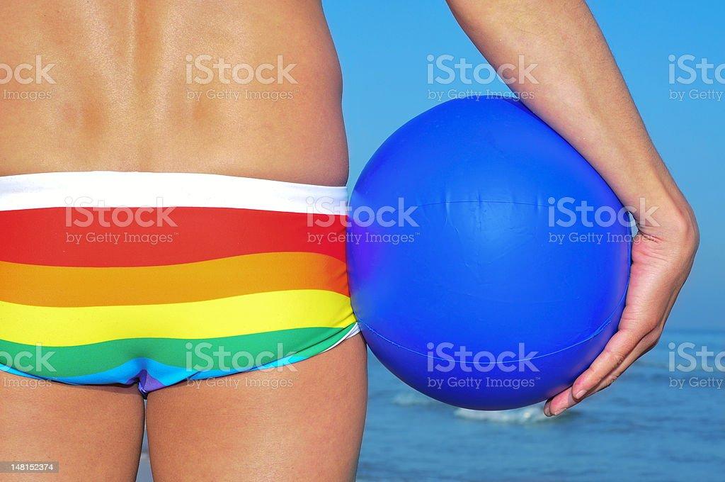 gay beach royalty-free stock photo