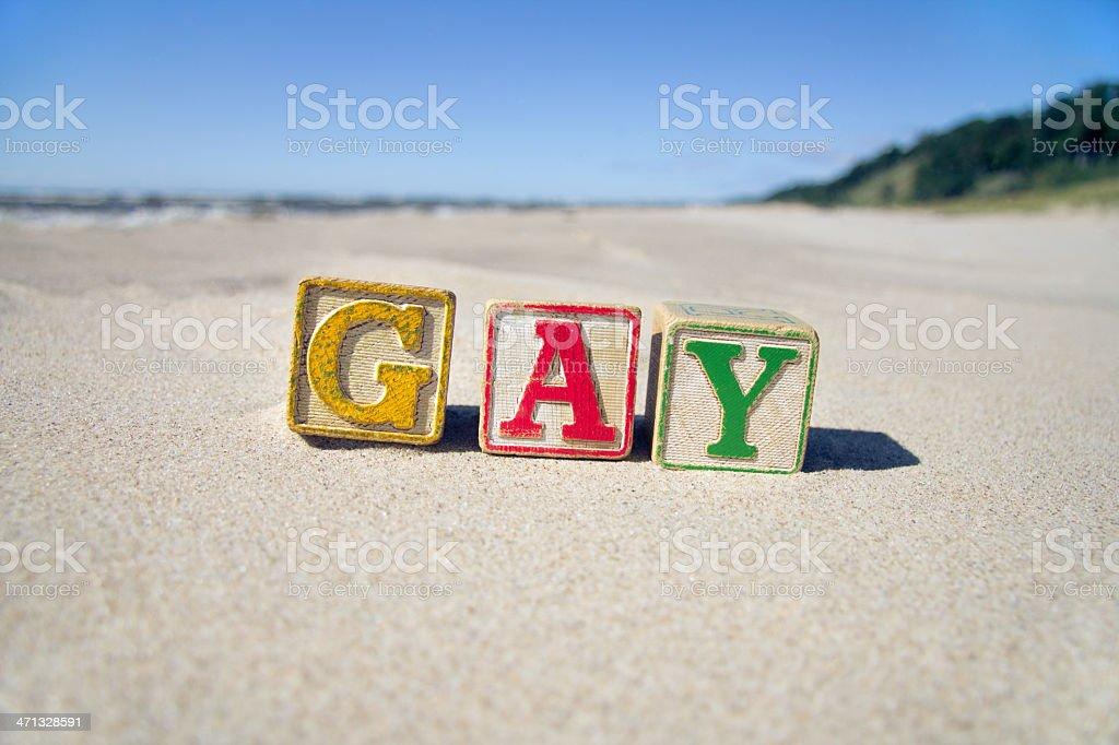Gay Blocks stock photo