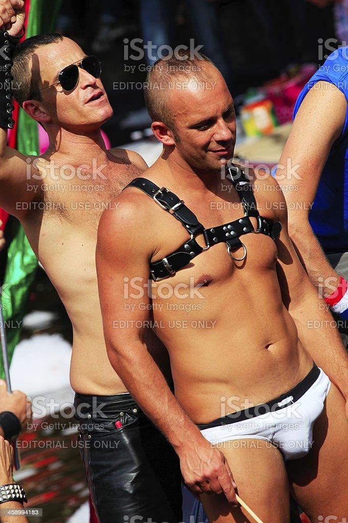 Gay Canal Parade, Amsterdam royalty-free stock photo