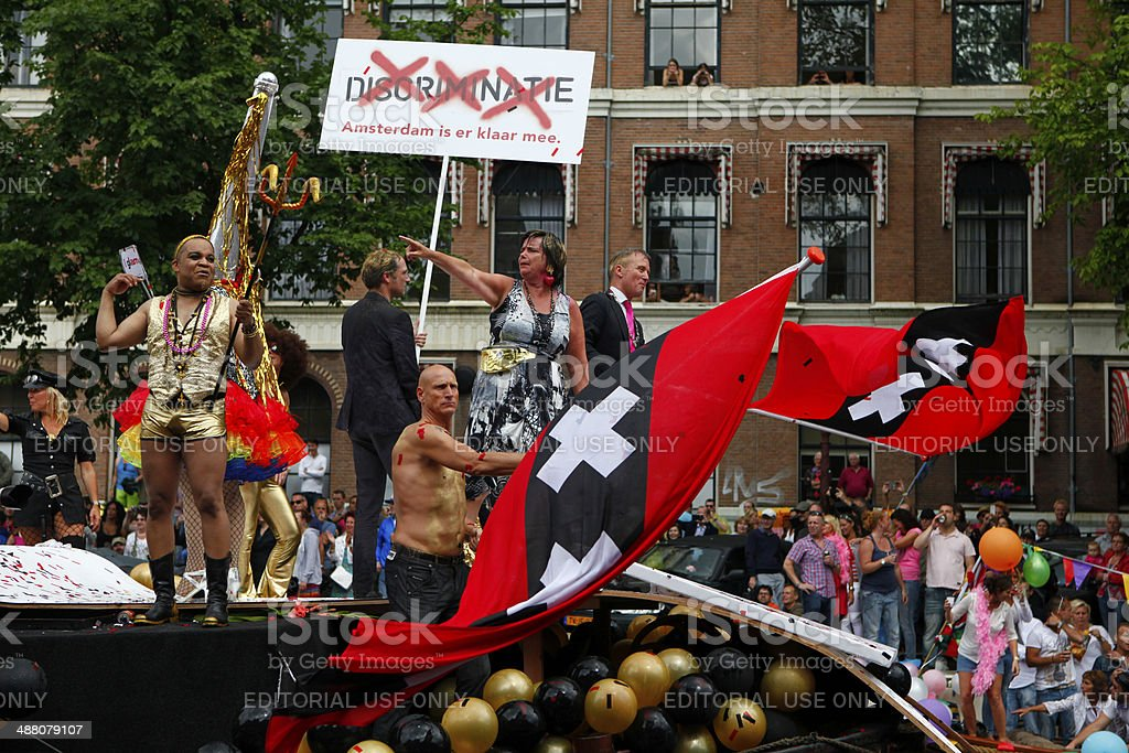 Gay Canal Parade, Amsterdam stock photo