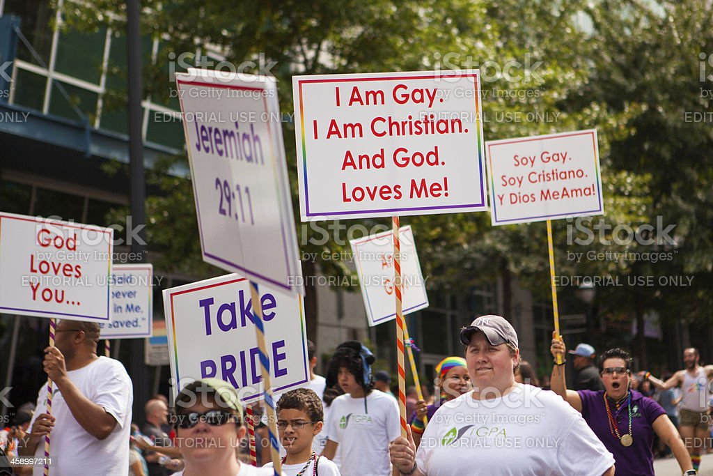 Gay Christians stock photo