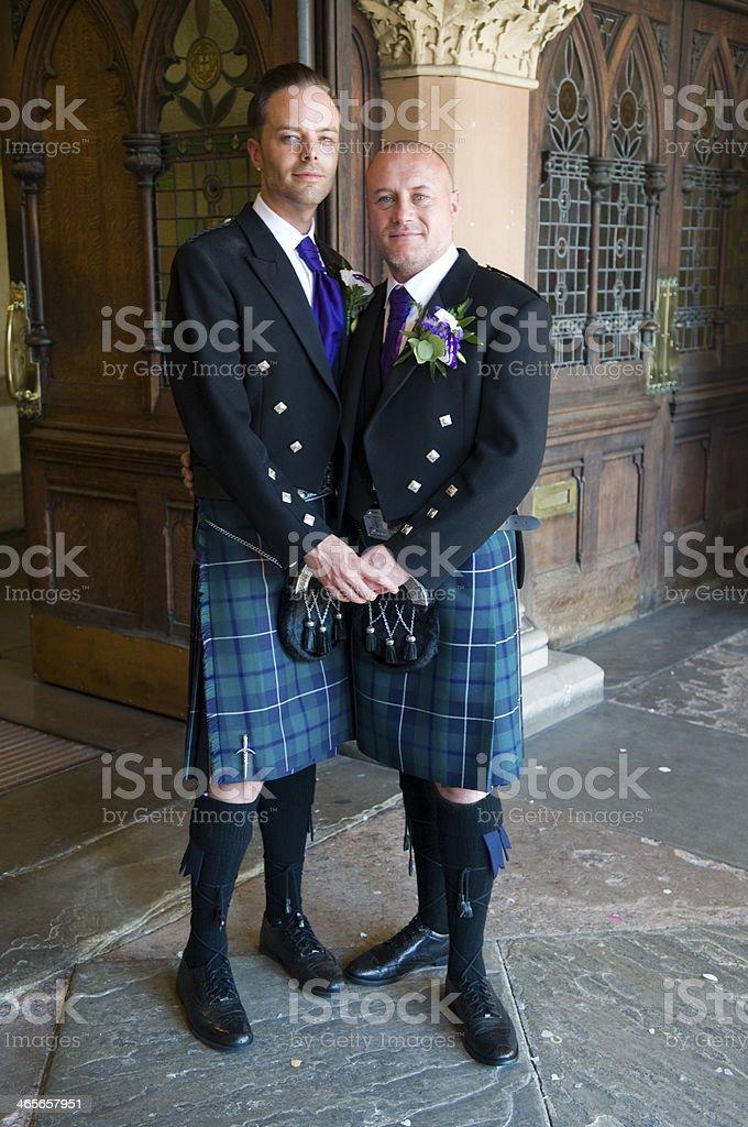 Gay couple Civil Ceremony stock photo