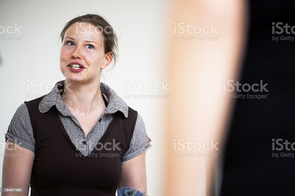 Gay Couple in heated argument royalty-free stock photo