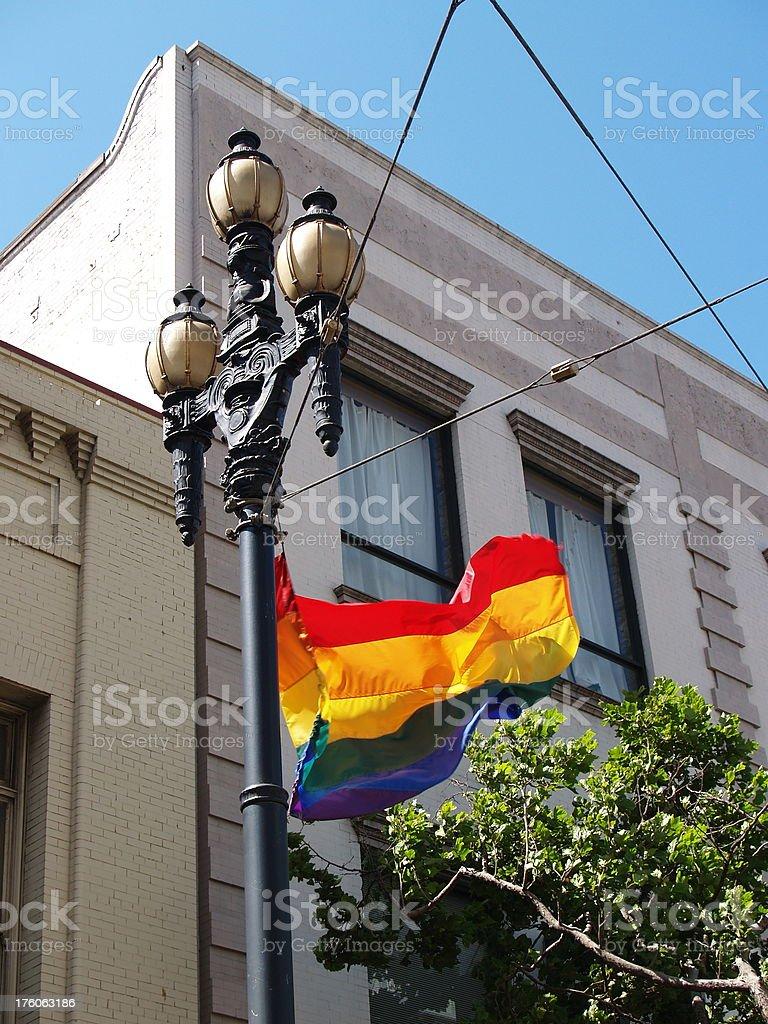 Gay Flag stock photo