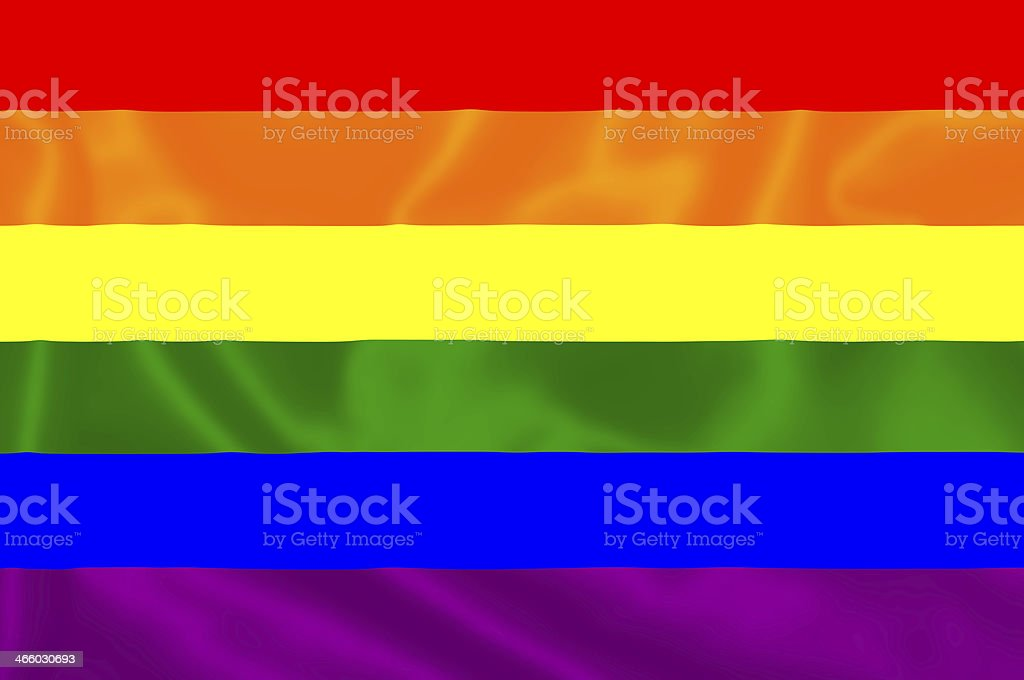 Gay flag. stock photo