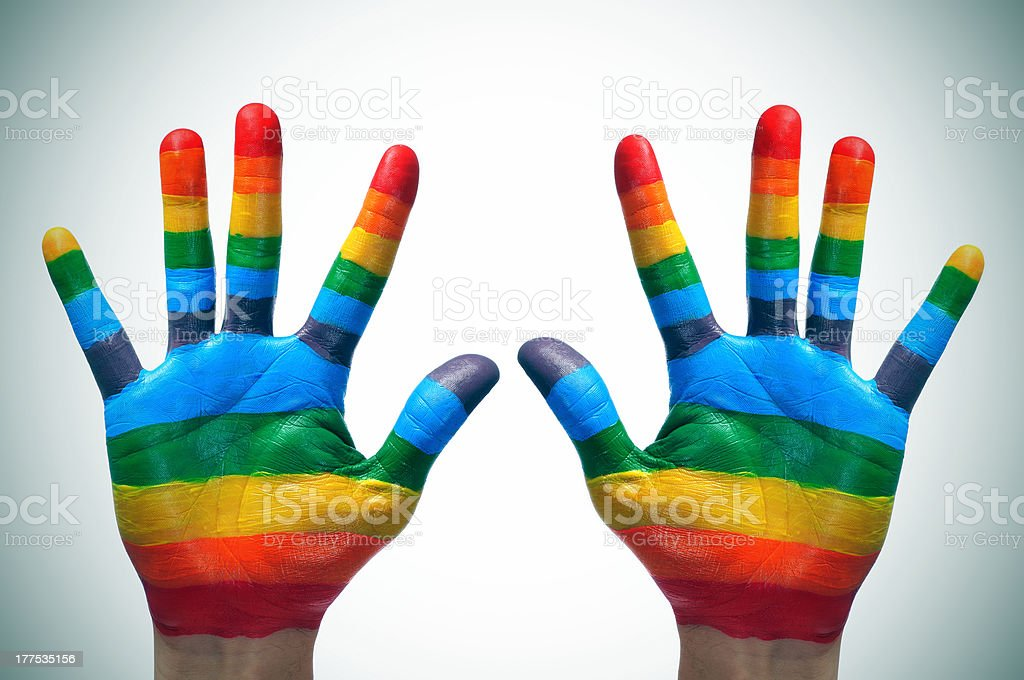 gay hands stock photo