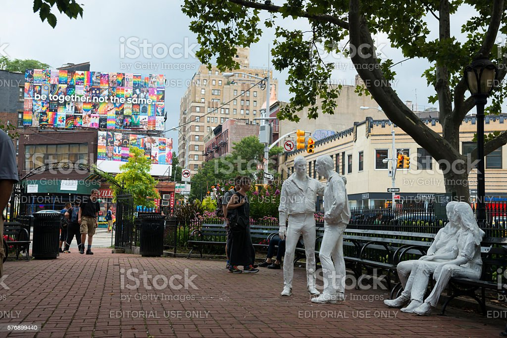 Gay Liberation Monument in New York City stock photo