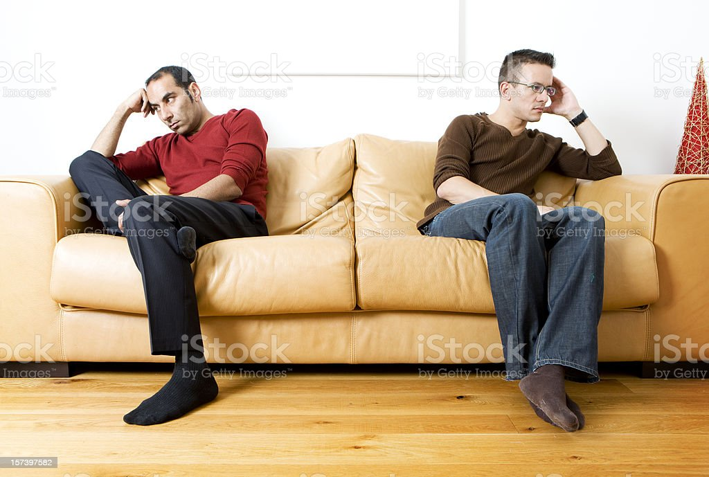 gay lifestyle: disagreement royalty-free stock photo