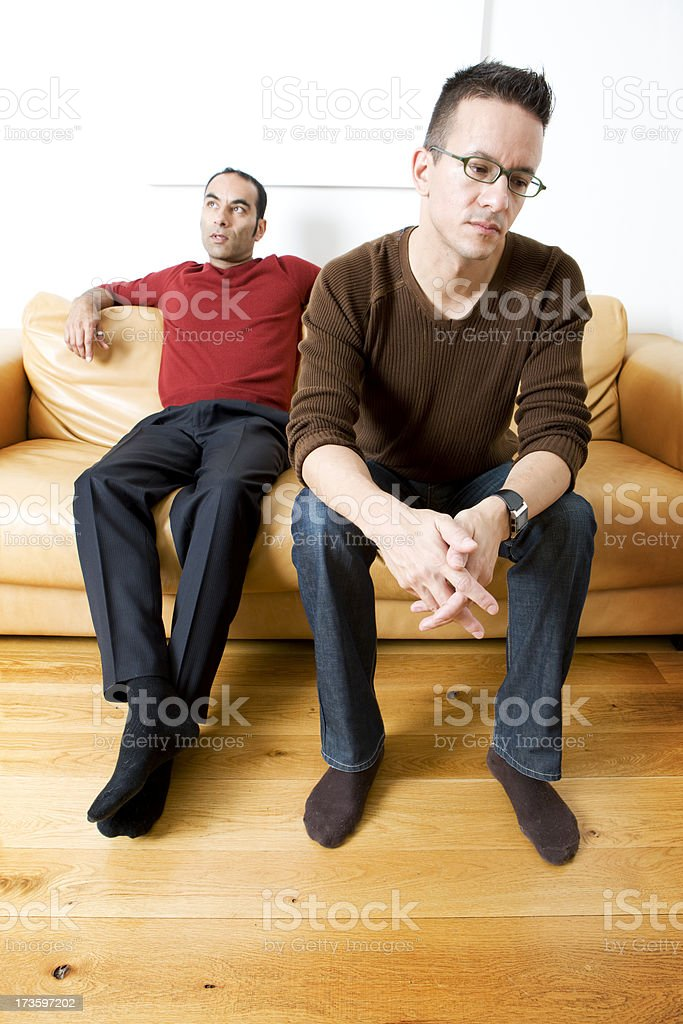 gay lifestyle: frustration royalty-free stock photo