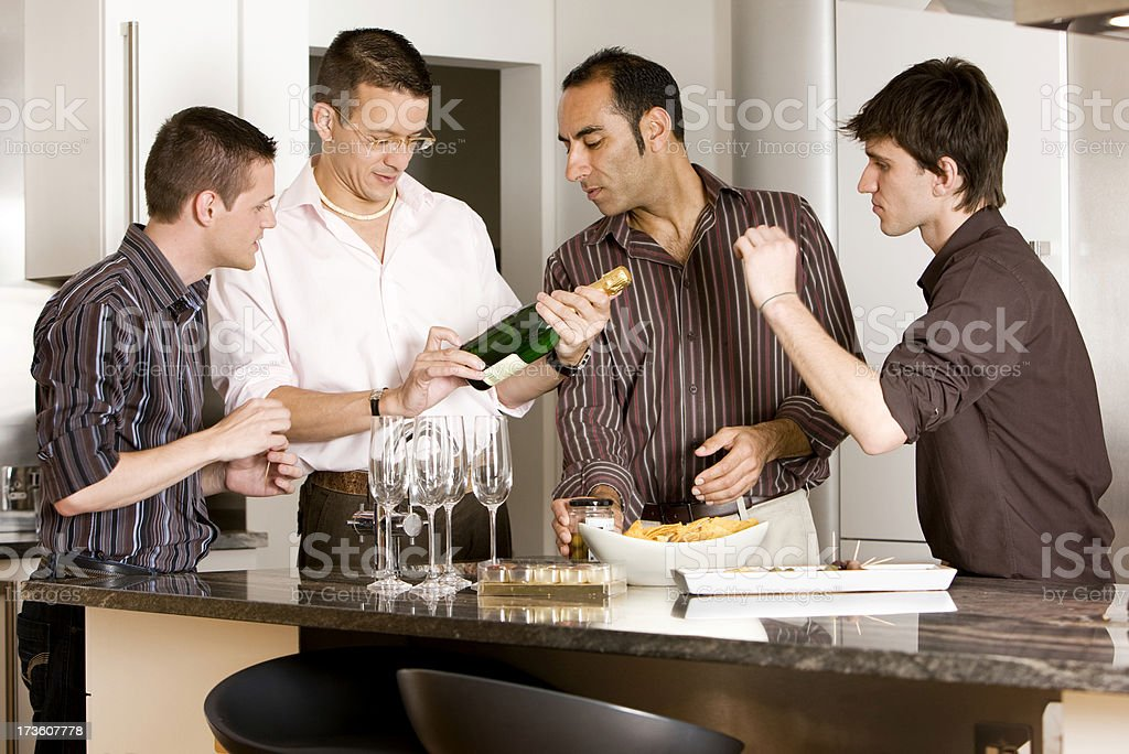 gay lifestyle: wine tasting royalty-free stock photo