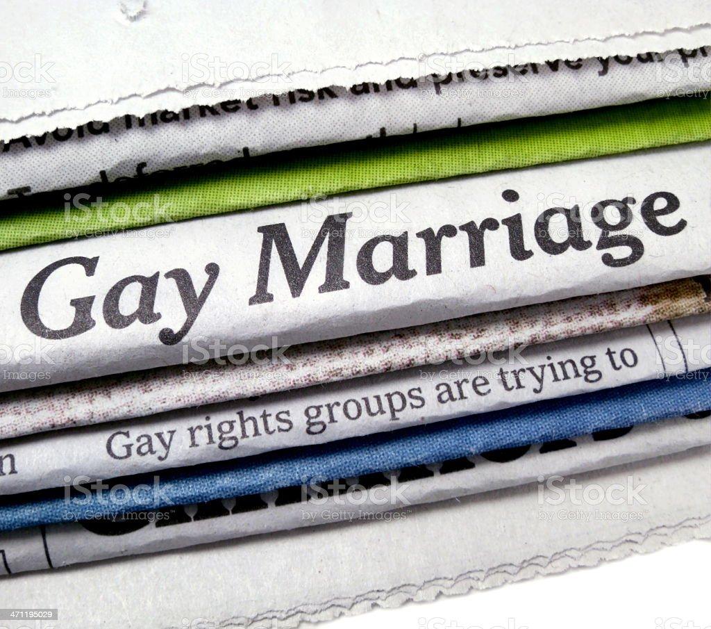 Gay Marriage Headline royalty-free stock photo