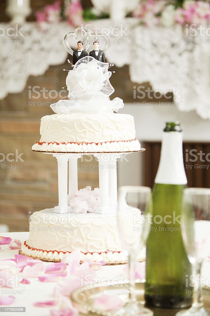 Gay Marriage - Wedding Cake royalty-free stock photo