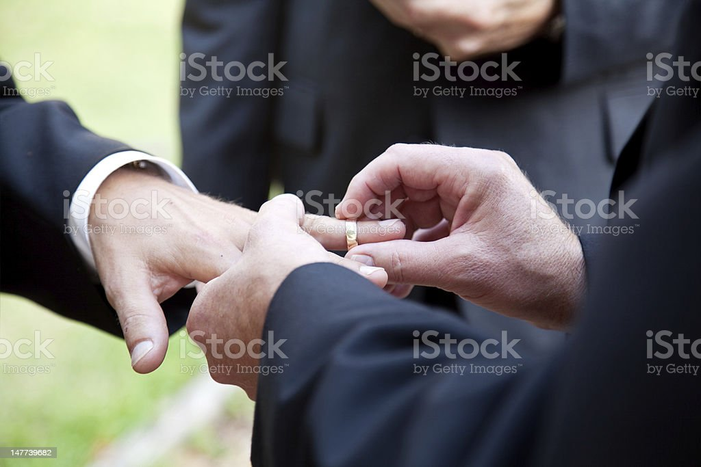 Gay Marriage - With This Ring stock photo