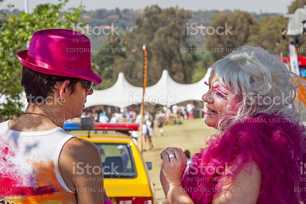 Gay men at the Johannesburg Pride royalty-free stock photo