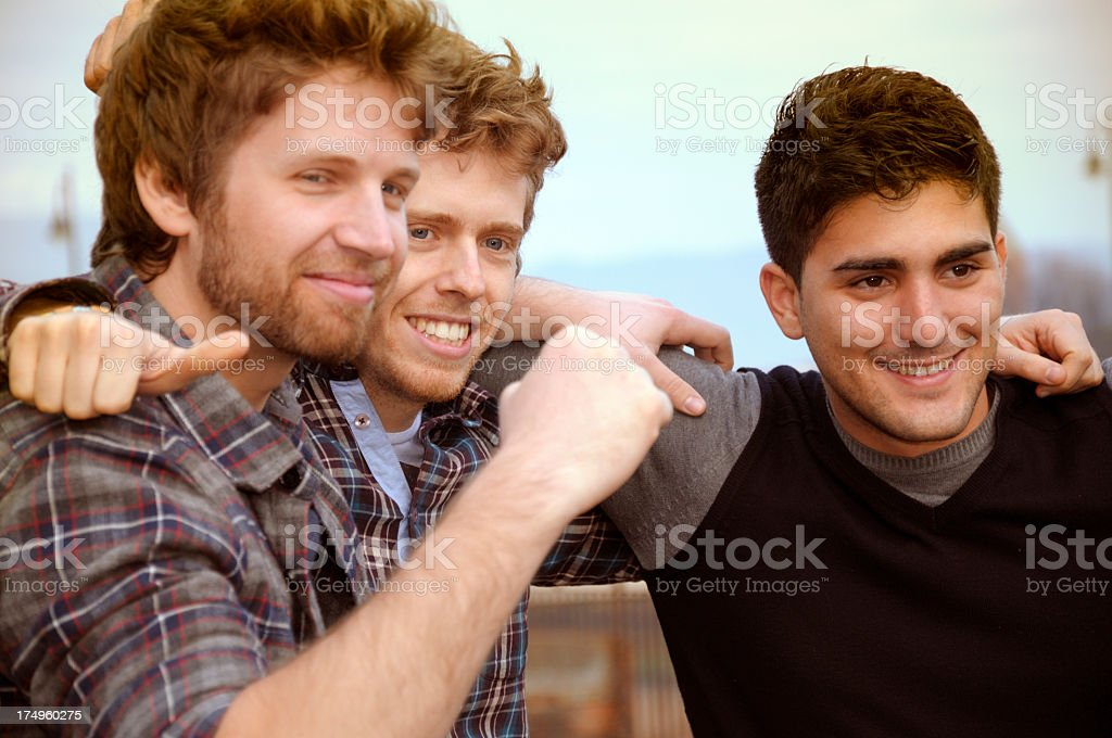 Gay Men Friendship stock photo