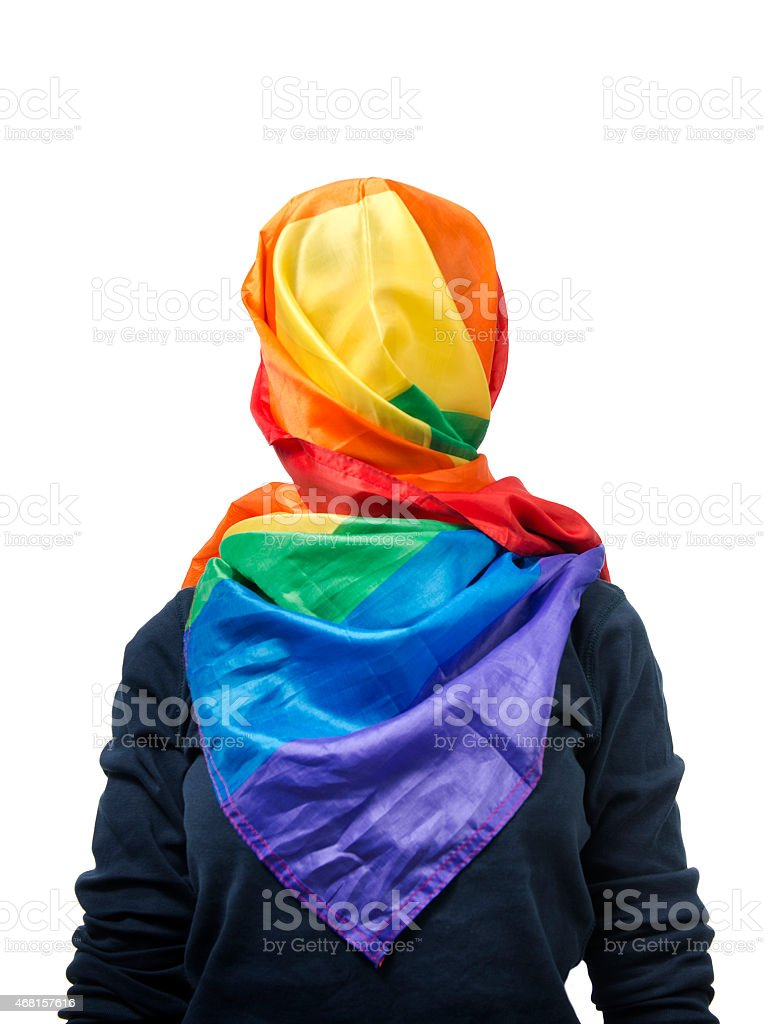 Gay muslim stock photo