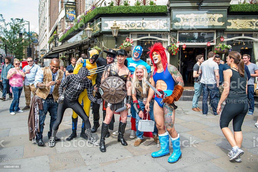 Gay parade cosplay stock photo