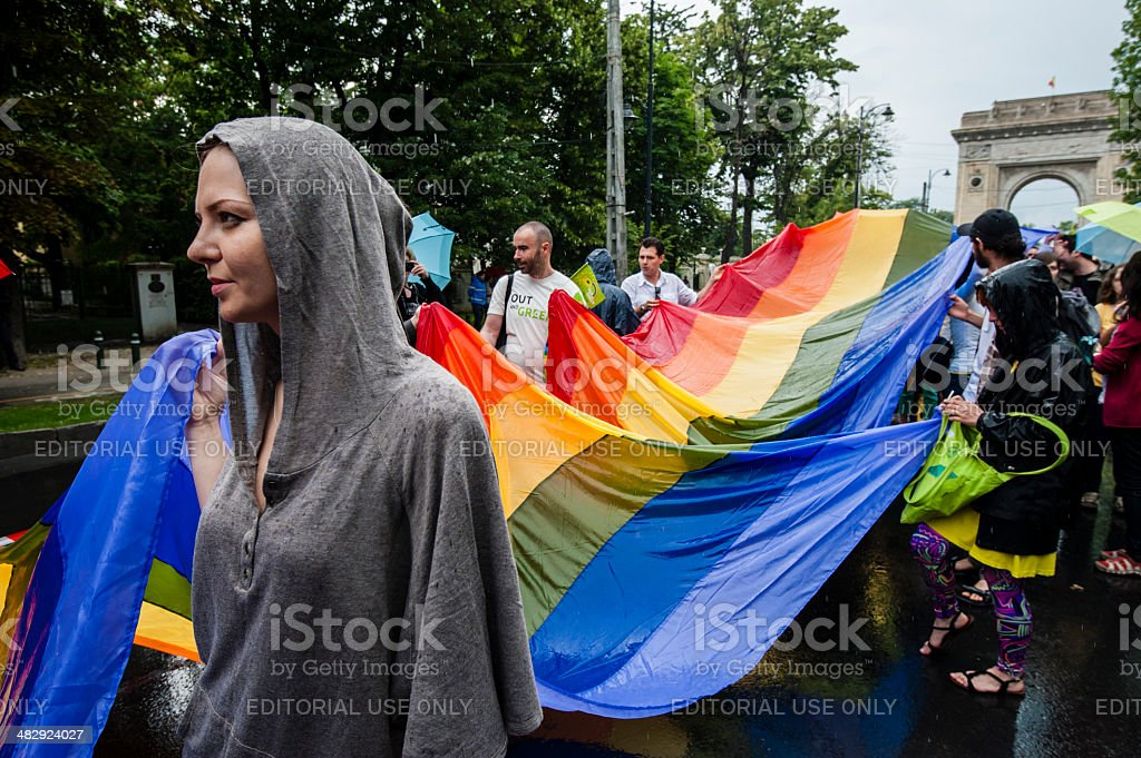 Gay Parade flag stock photo
