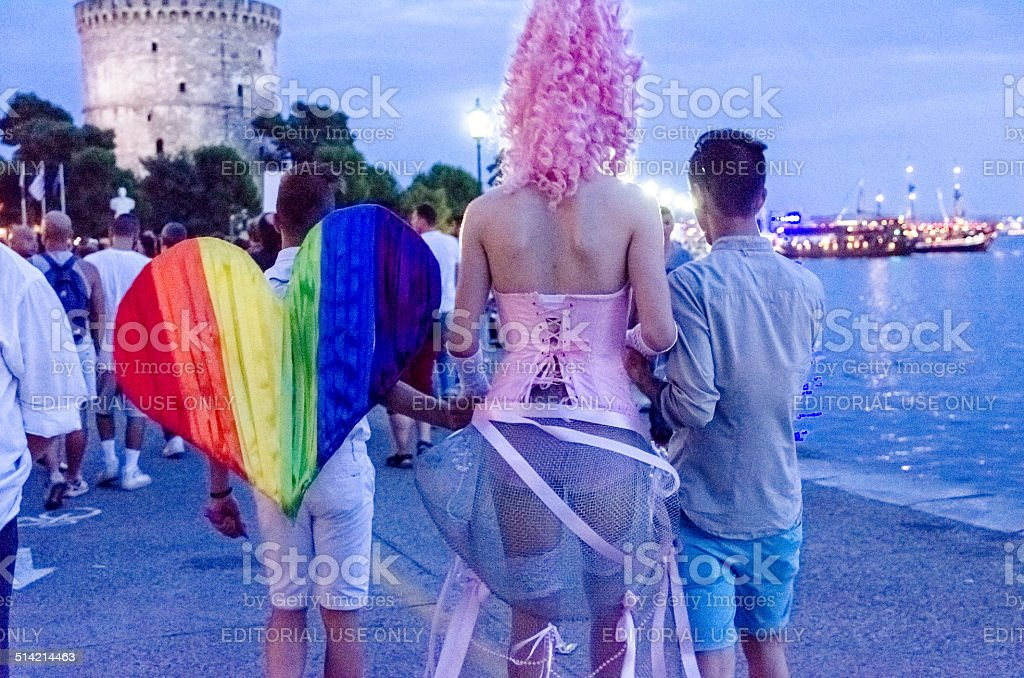 Gay Parade in Thessaloniki. stock photo