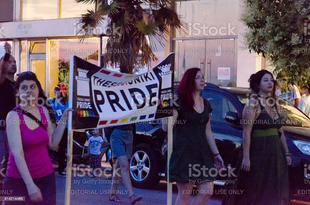 Gay Parade march. stock photo