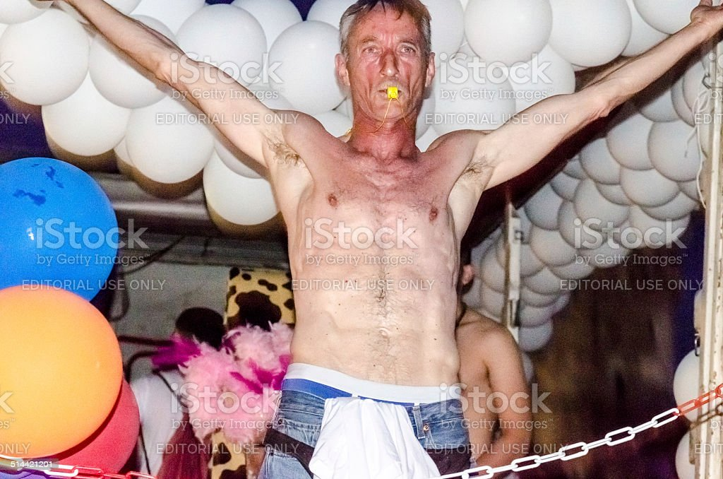 Gay Parade Party Guy stock photo