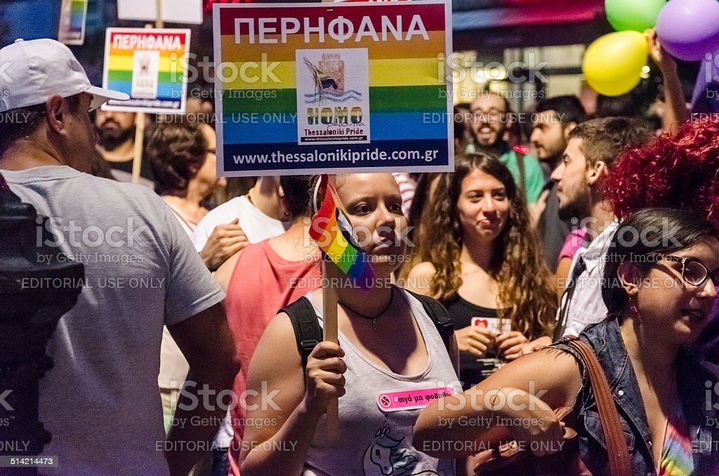 Gay Parade people. stock photo