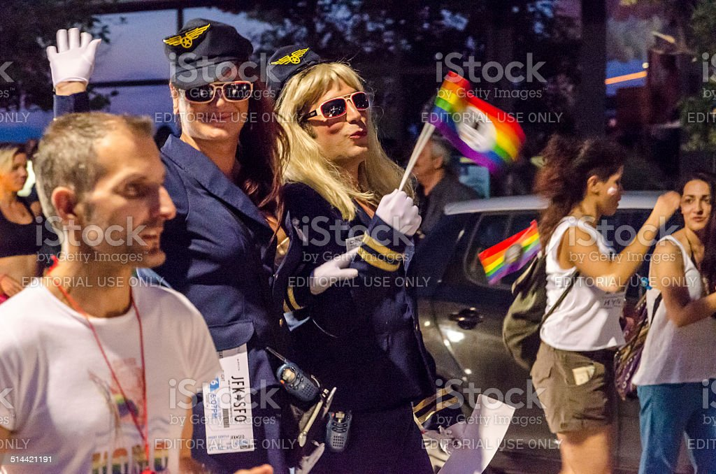 Gay Parade Police. stock photo