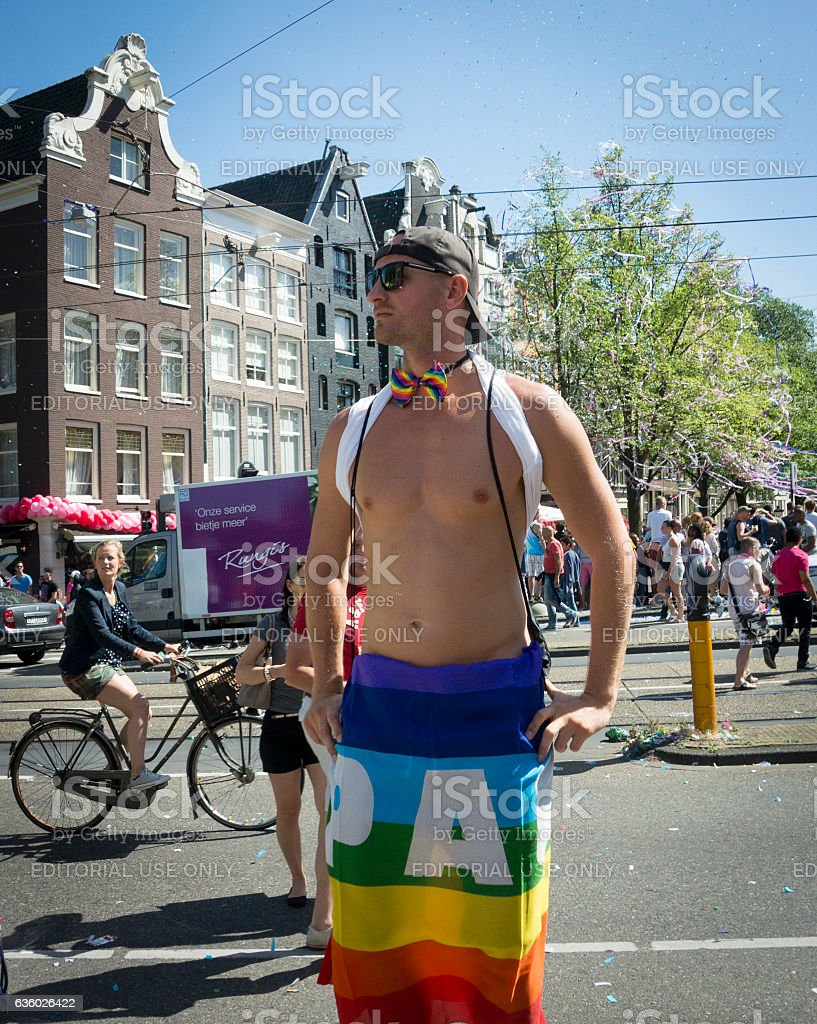 Gay Pride Amsterdam August 2013 stock photo