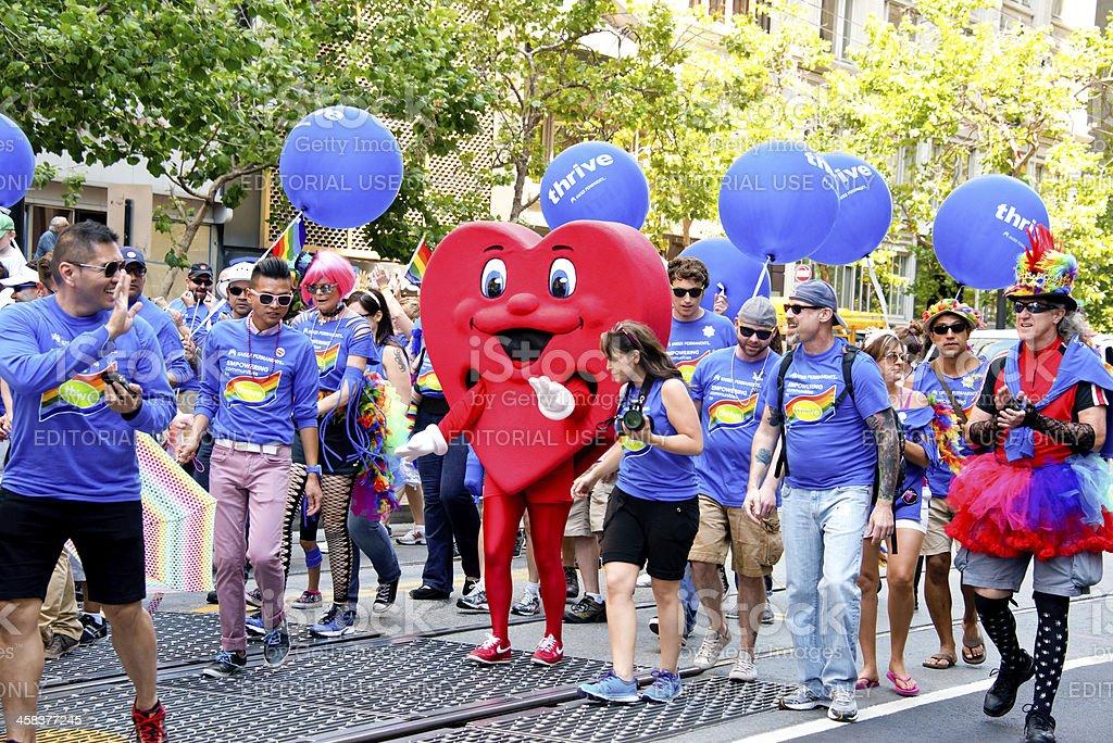 Gay Pride Celebration and Parade in San Francisco 2013 stock photo