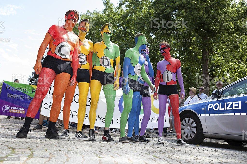 Gay Pride/ Christopher Street Day Wiesbaden 2013 stock photo