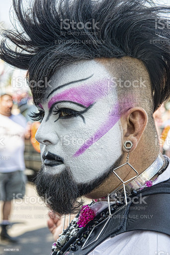 Gay Pride Face Painted royalty-free stock photo