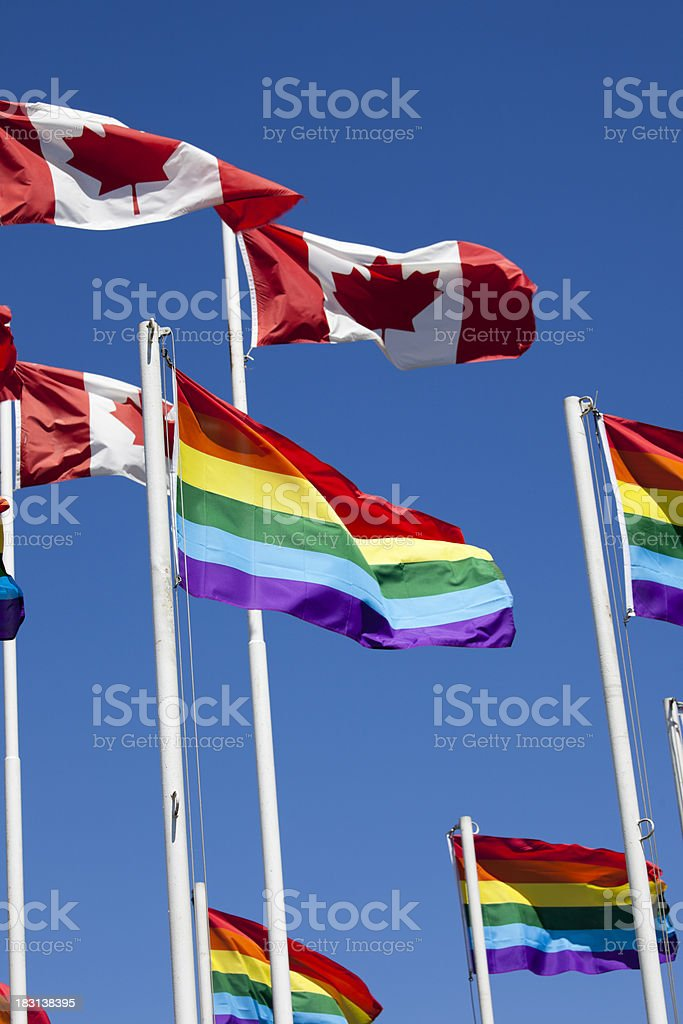 Gay Pride Flag and Civil Rights stock photo