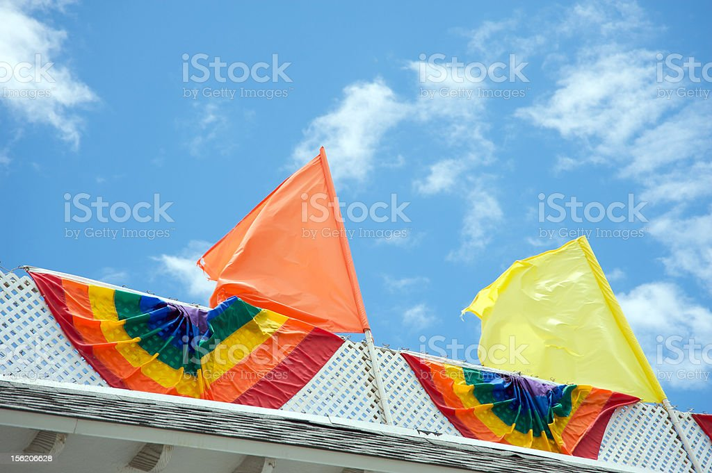 Gay pride flags royalty-free stock photo