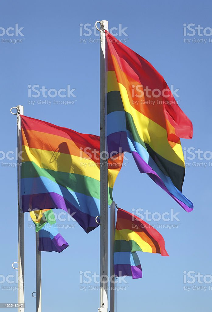 Gay Pride Flags, Vancouver, British Columbia stock photo