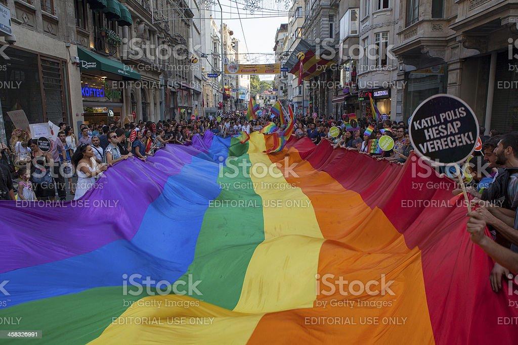 Gay Pride Istanbul 2013 royalty-free stock photo