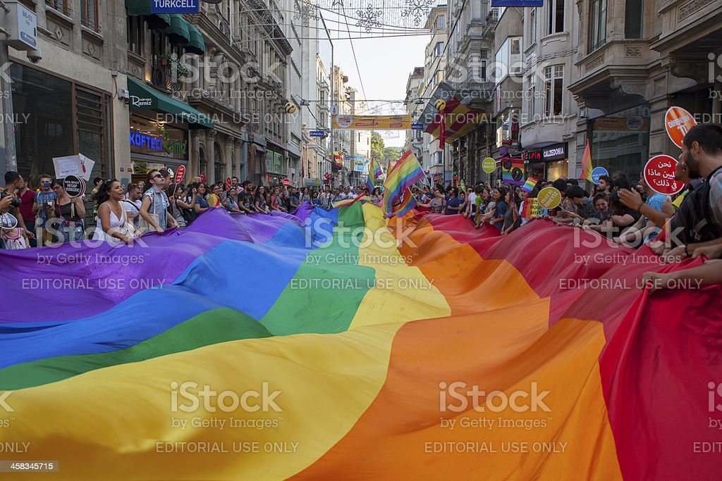Gay Pride Istanbul 2013 stock photo