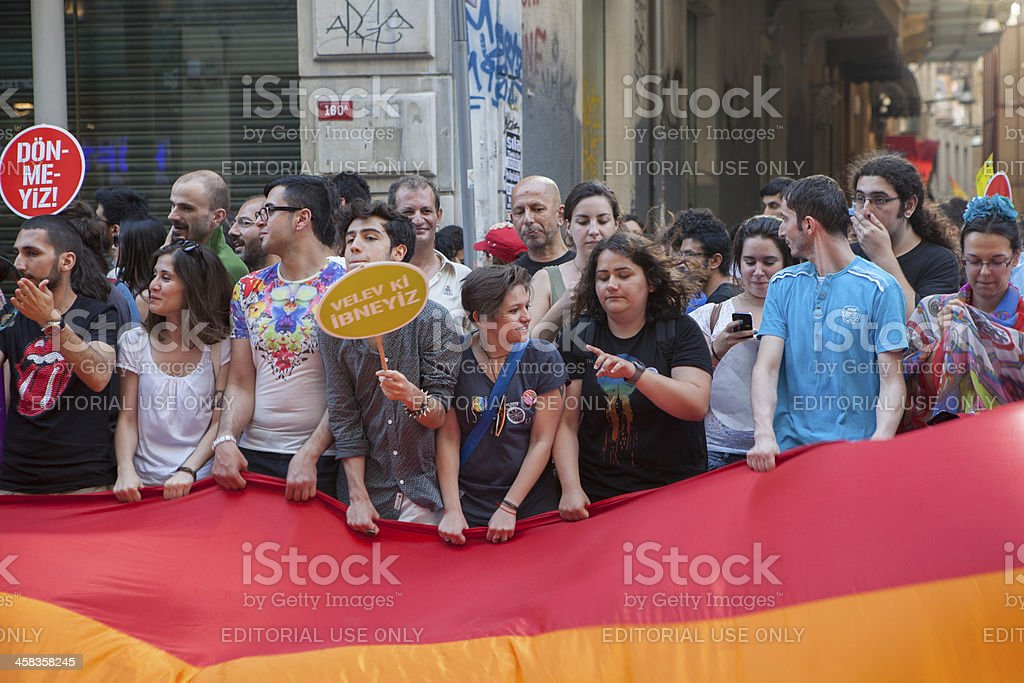 Gay Pride Istanbul 2013 stock photo